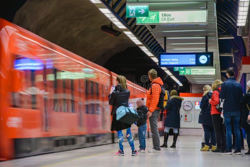 Länsimetro starts operating royalty free stock photos