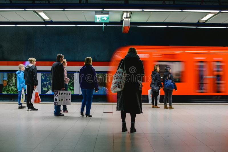Länsimetro starts operating royalty free stock image