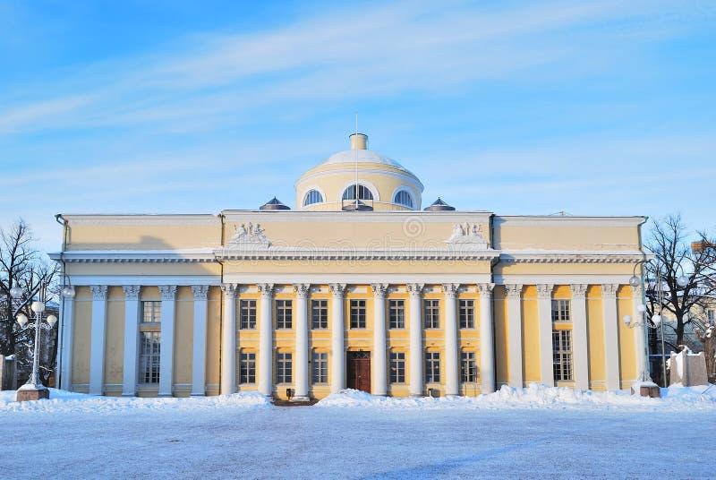 Helsinki. Libreria di università immagine stock