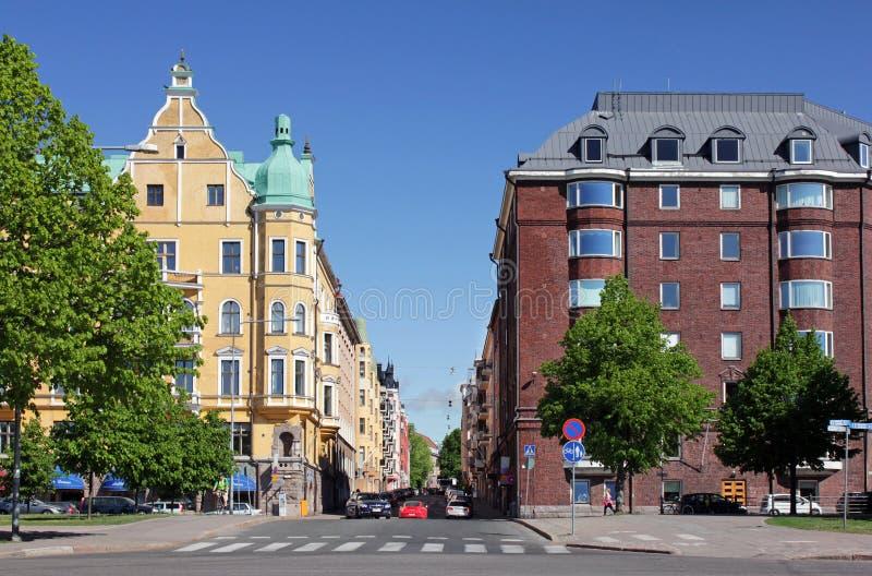 Helsinki, Neitsytpolku ulica obrazy royalty free