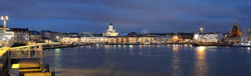 Helsinki by night royalty free stock photography