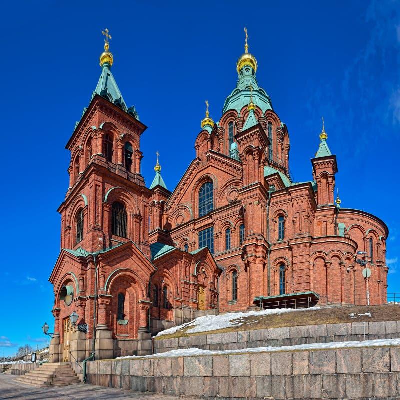 Helsinki Orthodox Uspensky Cathedral stock photos