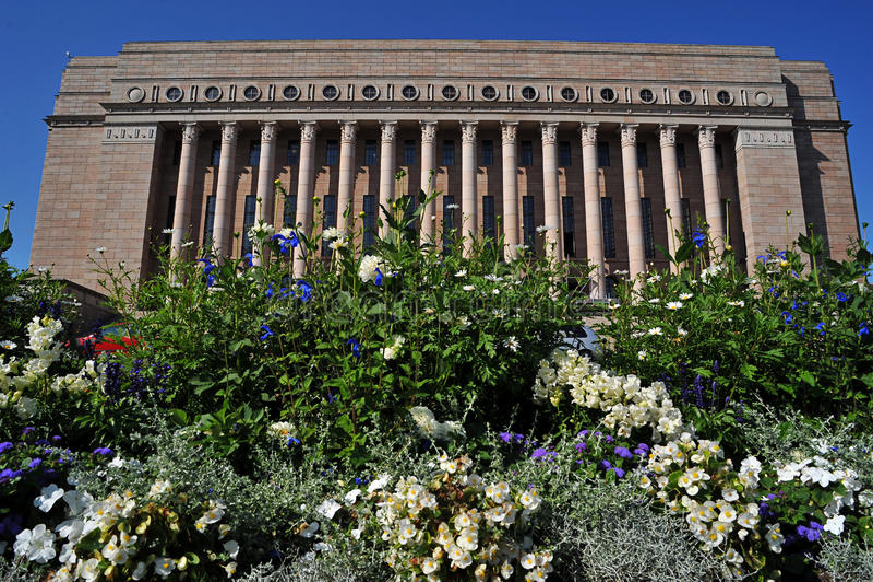 Helsinki parliament building stock photography