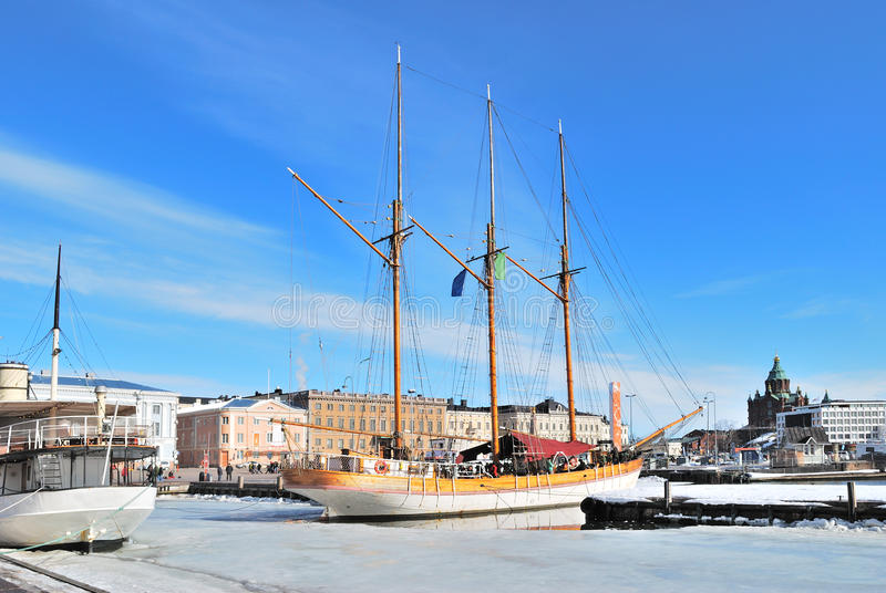 Helsinki. Port du sud images libres de droits