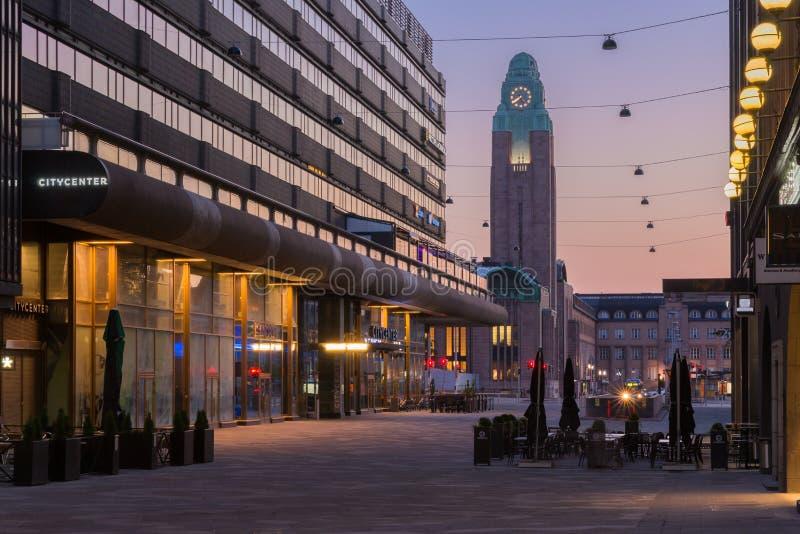 Helsinki przy świtem zdjęcia stock