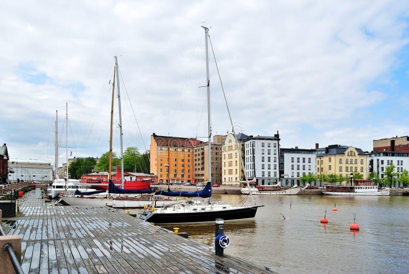 Helsinki. Puerto del norte foto de archivo