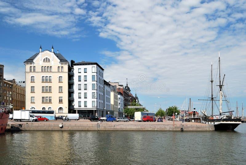Helsinki, Quay del norte foto de archivo