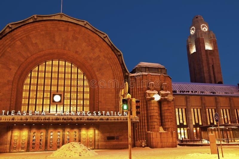 Helsinki - station de train principale image stock