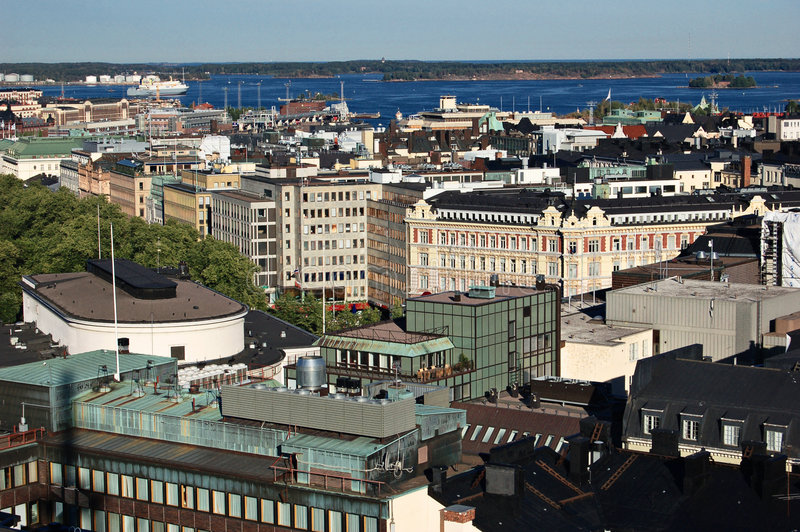 Helsinki view royalty free stock images