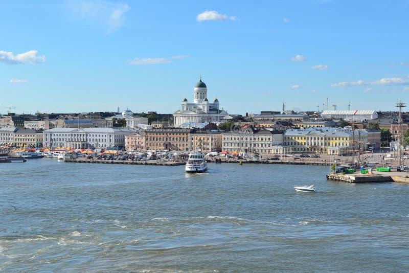 Helsinki vom Sehung stockfotos