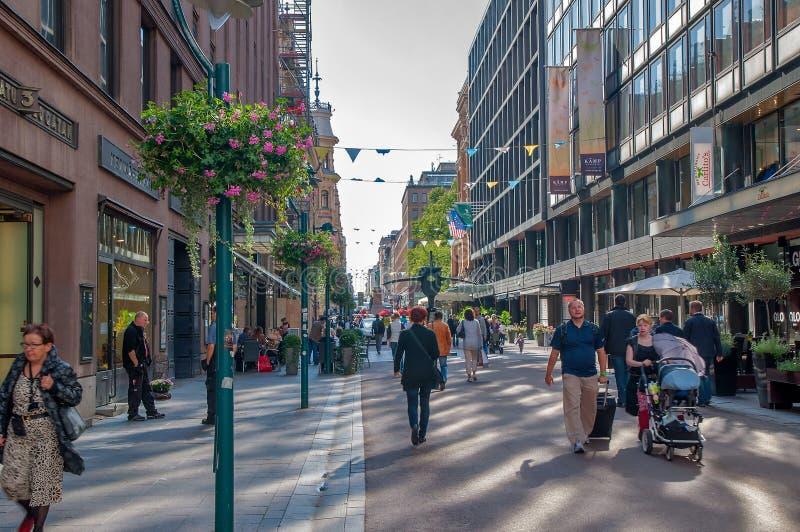 Helsinki, wie ist straßen Alltagsleben der Stadt lizenzfreie stockbilder