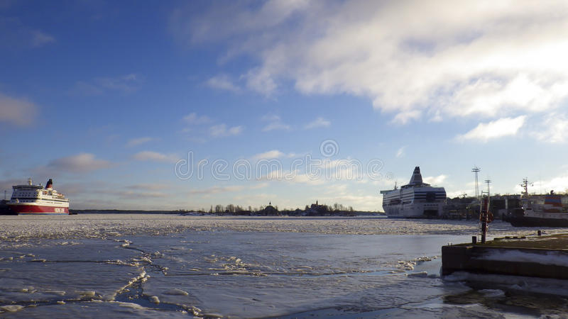 Helsinki-Winter stockfotos