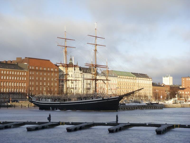 Helsinki zima obraz royalty free
