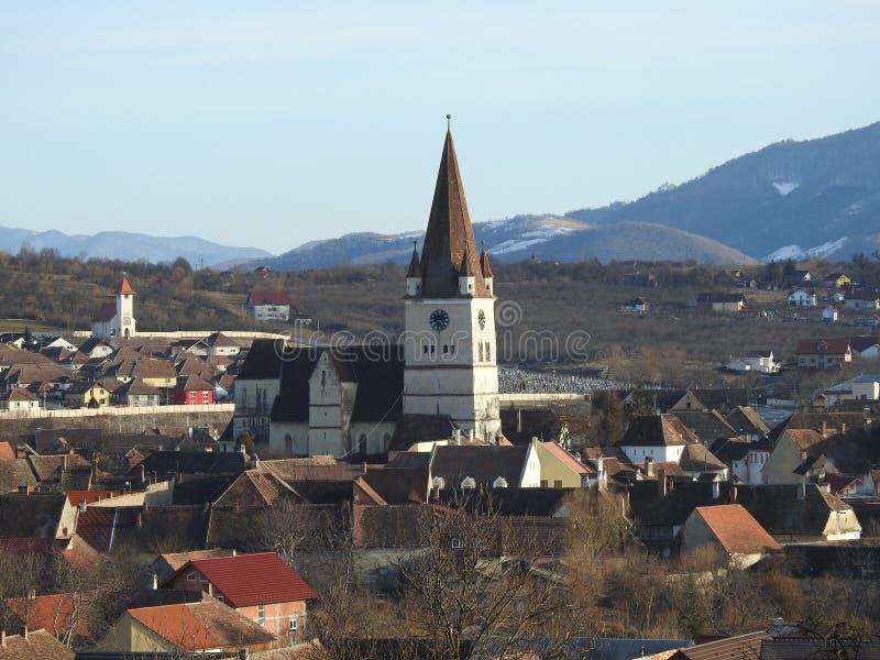 Heltau ha fortificato la chiesa fotografie stock