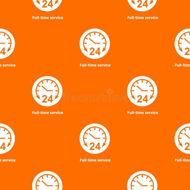 Heltid apelsin för servicemodellvektor vektor illustrationer