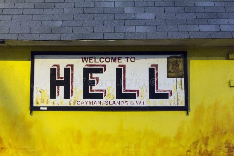 helvete som ska välkomnas royaltyfri bild