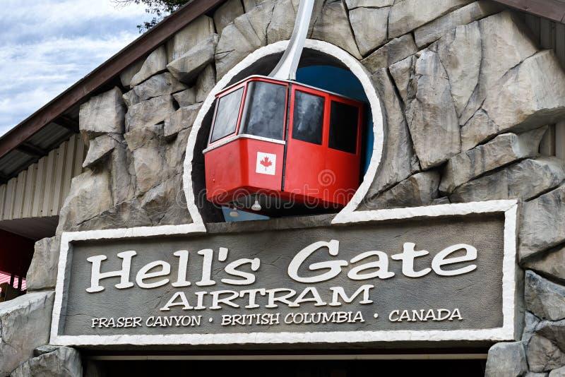 Helveteport Airtram, Fraser Canyon, British Columbia, Kanada fotografering för bildbyråer