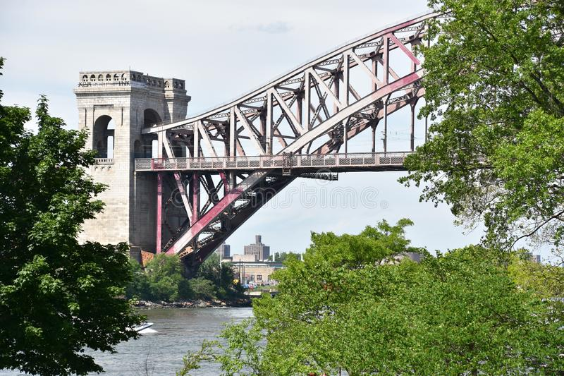 Helveteportbro i Queens, New York royaltyfri fotografi