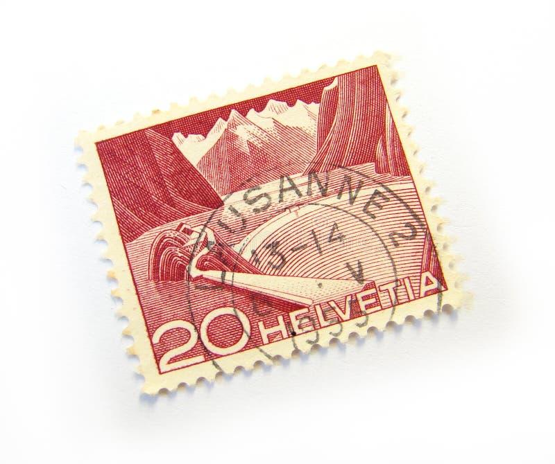 Helvetia Zegel royalty-vrije stock afbeeldingen