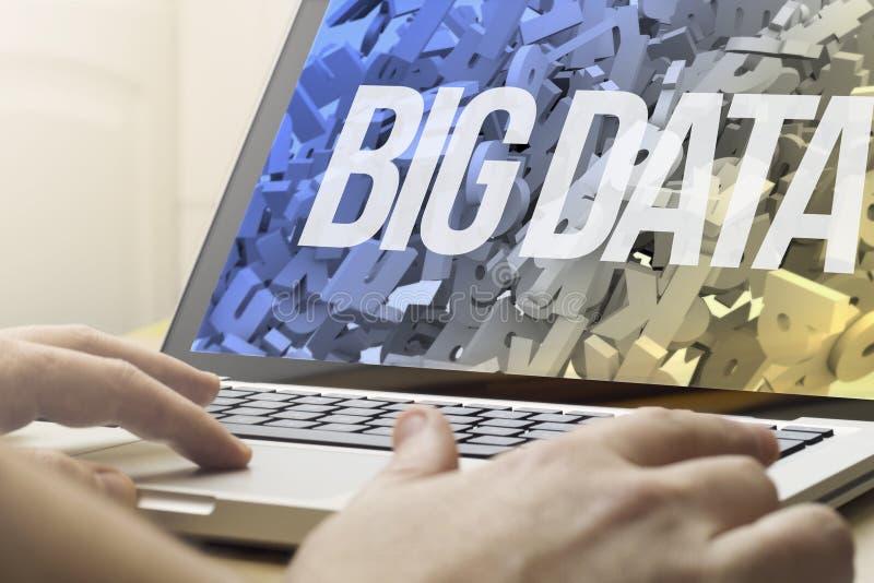 Hem- beräknande stora data arkivbild