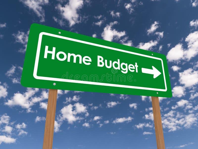 Hem- budget stock illustrationer