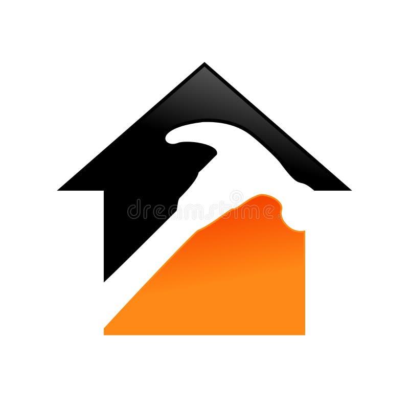 Hem- design för symbol för reparationsservice vektor illustrationer