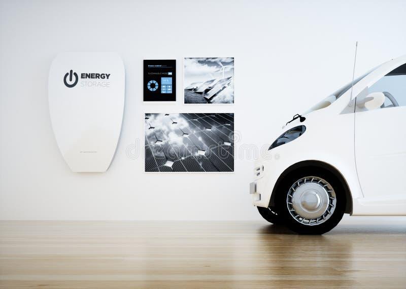 Hem- enhet för energilagringsbatteri stock illustrationer