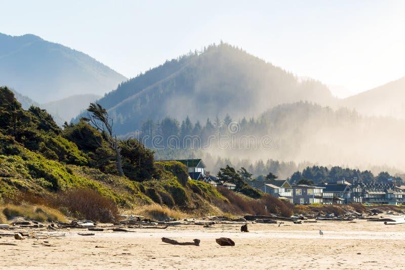Hem för semester för kanonstrandOceanfront arkivfoton