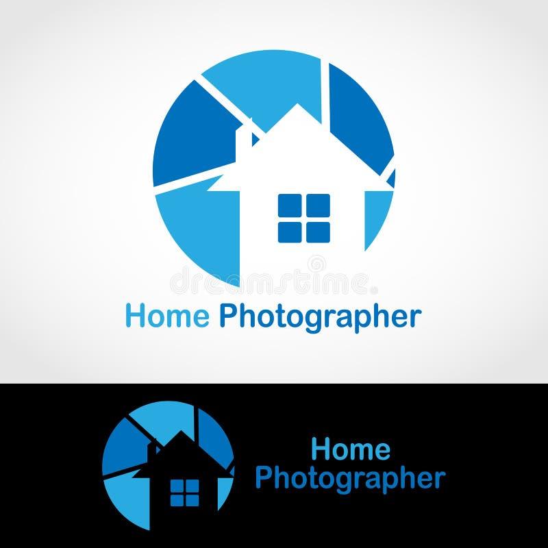 Hem- fotograf Logo stock illustrationer