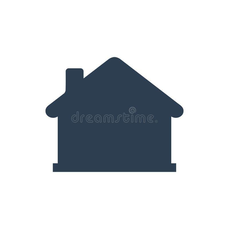 Hem Homepage-symbol stock illustrationer