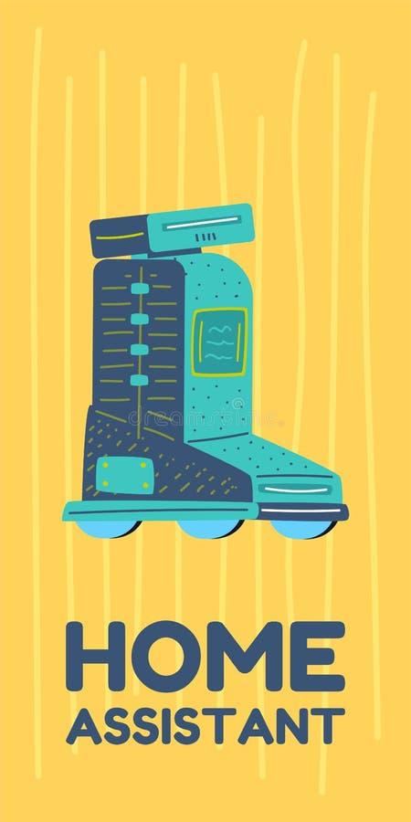 Hem- konstgjord intelligens f?r assistent och f?r robot royaltyfri illustrationer