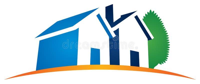 Hem- logo för hus royaltyfri illustrationer