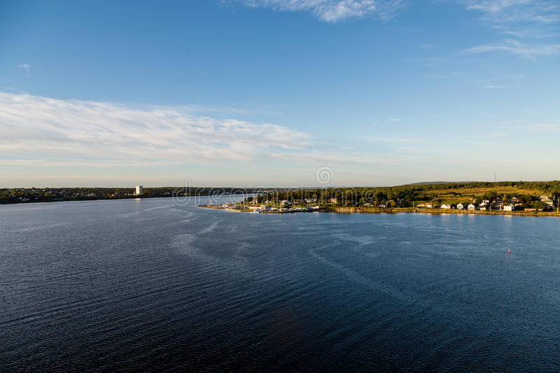 Hem på kust av Nova Scotia fotografering för bildbyråer