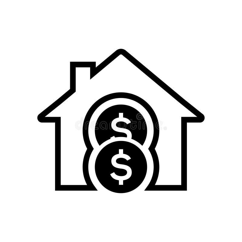 Hem- pengarinvesteringsymbol royaltyfri illustrationer