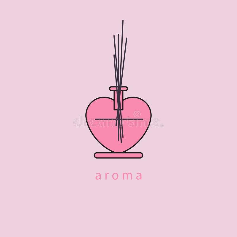 Hem- symbol för arom stock illustrationer