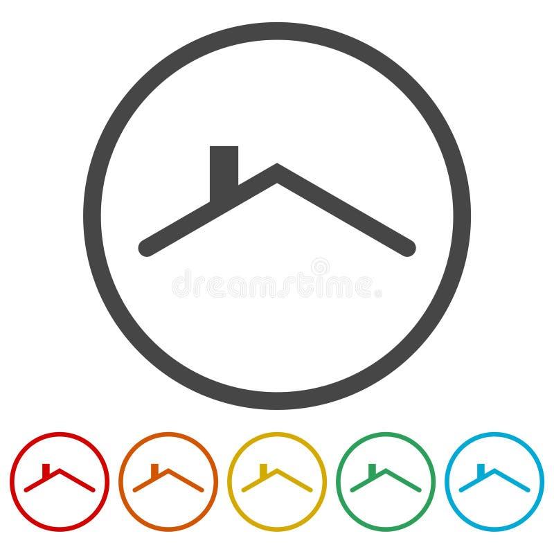 Hem- taksymbol royaltyfri illustrationer