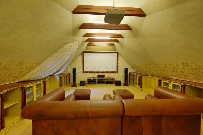 Hem- teater royaltyfri bild
