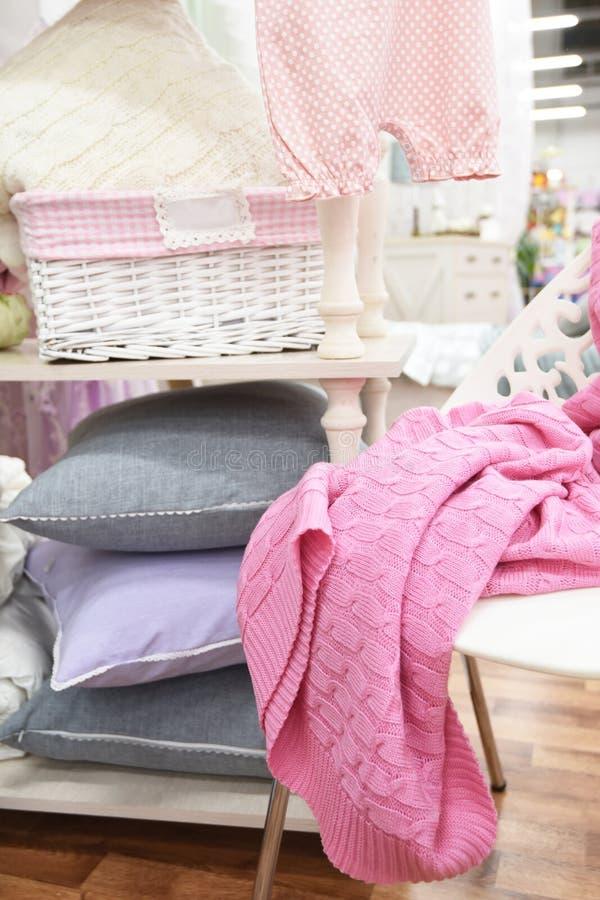 Hem- textiluppsättning royaltyfri fotografi