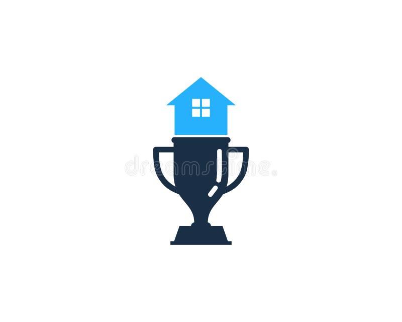 Hem- trofésymbol Logo Design Element för hus royaltyfri illustrationer