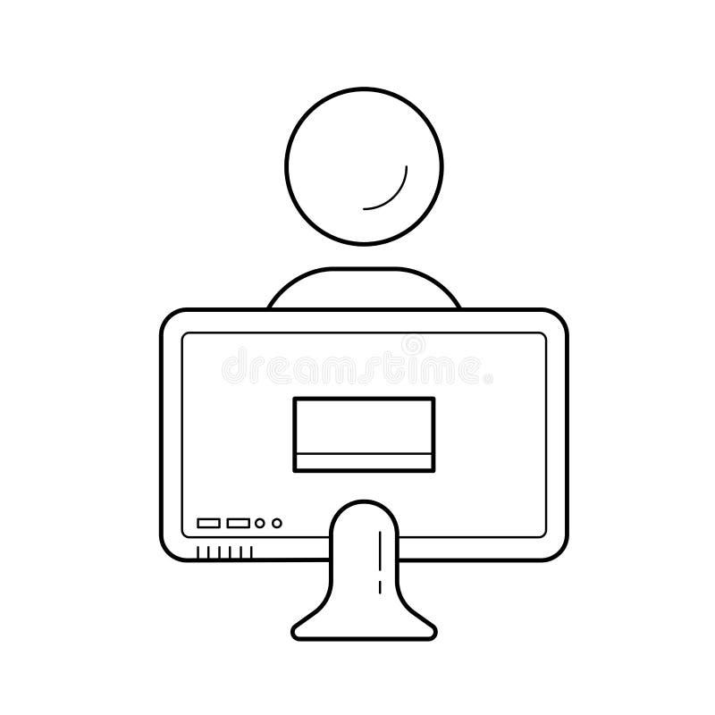 Hem- utbildningsvektorlinje symbol vektor illustrationer