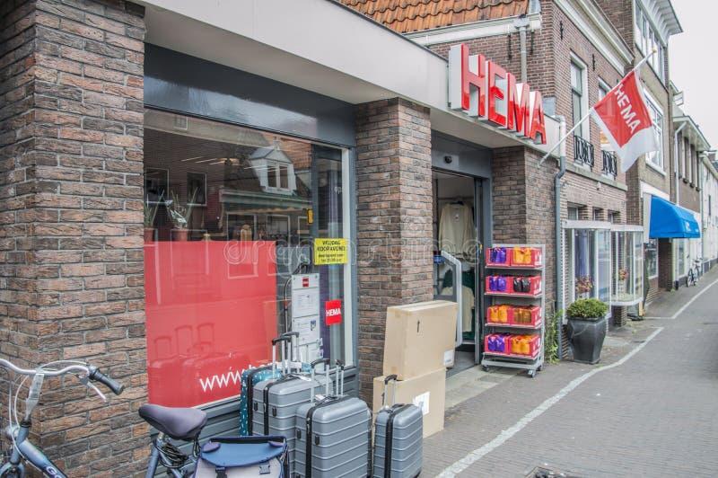 HEMA Store At Weesp The Paesi Bassi 2018 fotografia stock