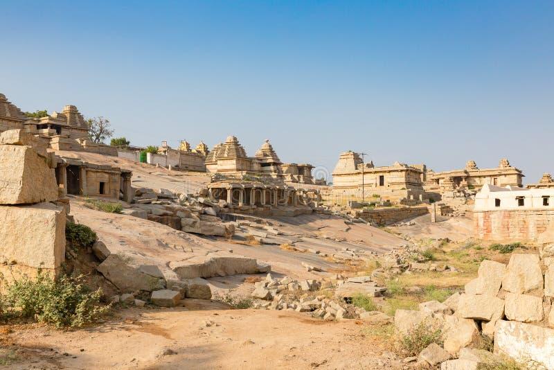 Hemakuta hill temples, Hampi, Karnataka, India stock photography