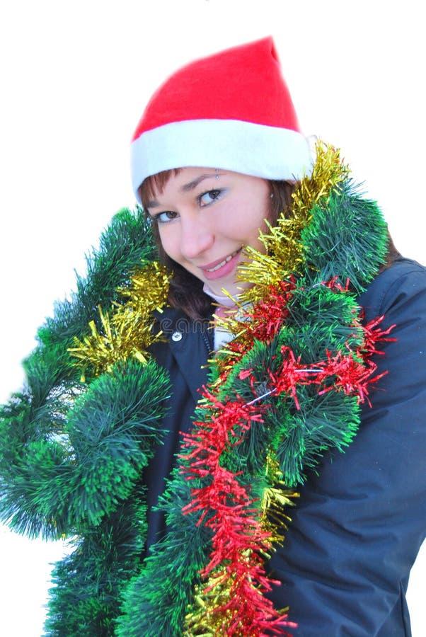 Hembra de Papá Noel imagen de archivo