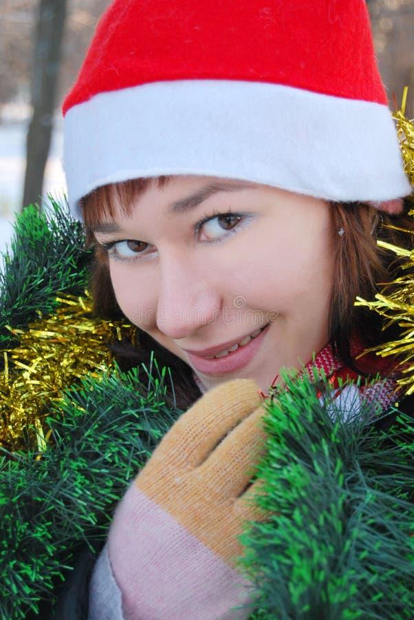 Hembra de Papá Noel imagen de archivo libre de regalías