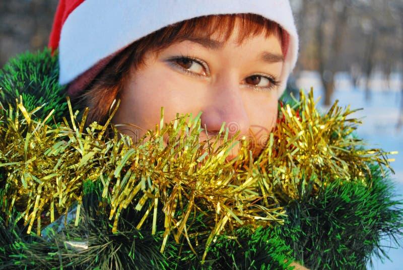 Hembra de Papá Noel imágenes de archivo libres de regalías