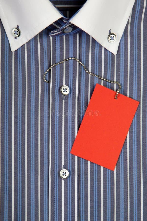 Hemd mit Kragen und Kennsatz lizenzfreie stockbilder