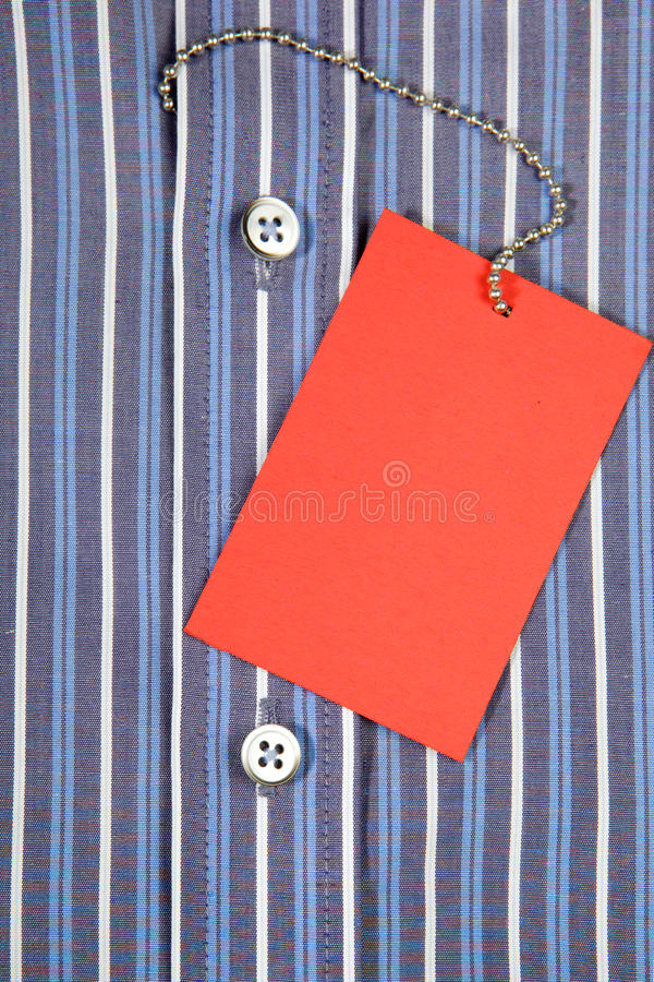 Hemd und Aufkleber lizenzfreies stockbild