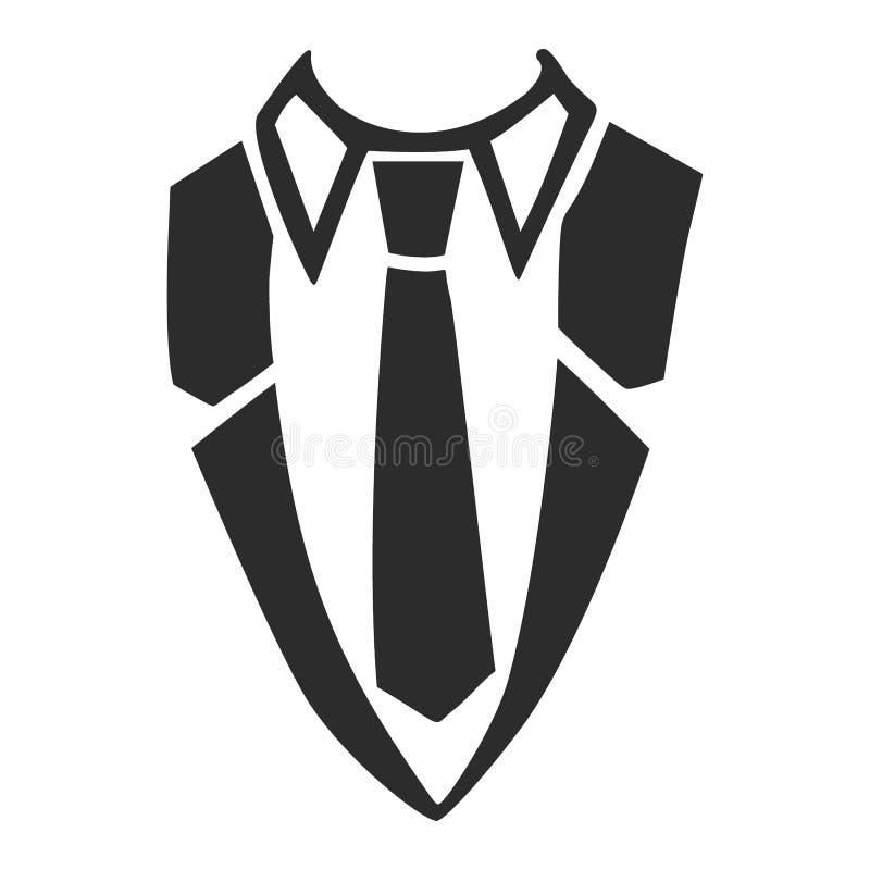 Hemdkrawattenikone, einfache Art lizenzfreie abbildung