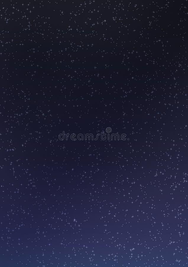 Hemel 04 van de nacht vector illustratie