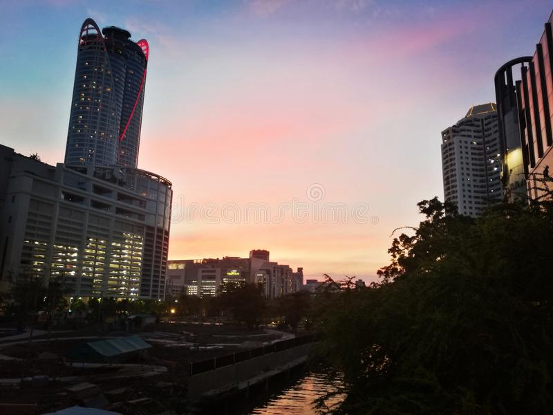 Hemel in Bangkok stock foto's